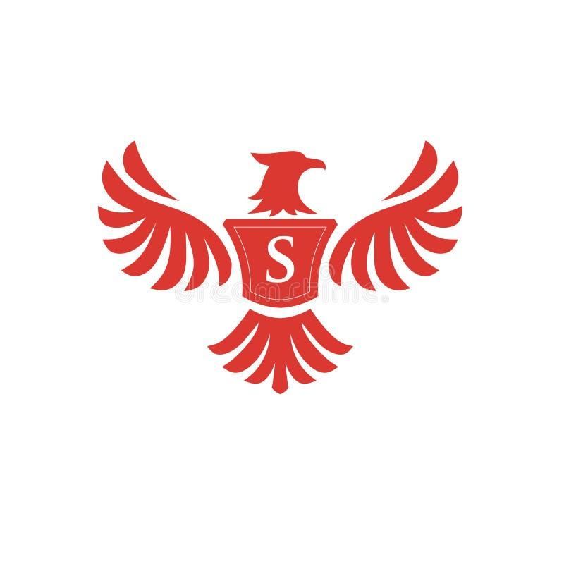 Phoenix elegante con el logotipo de la letra S libre illustration