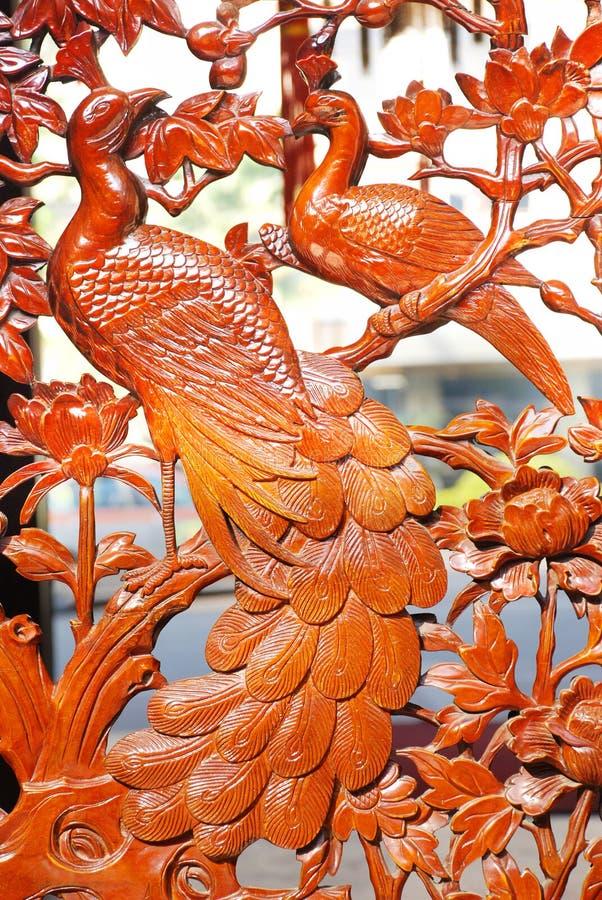 Phoenix en bois image stock
