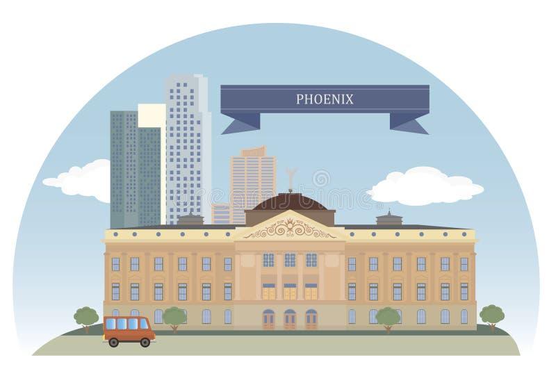 Phoenix, EUA ilustração do vetor