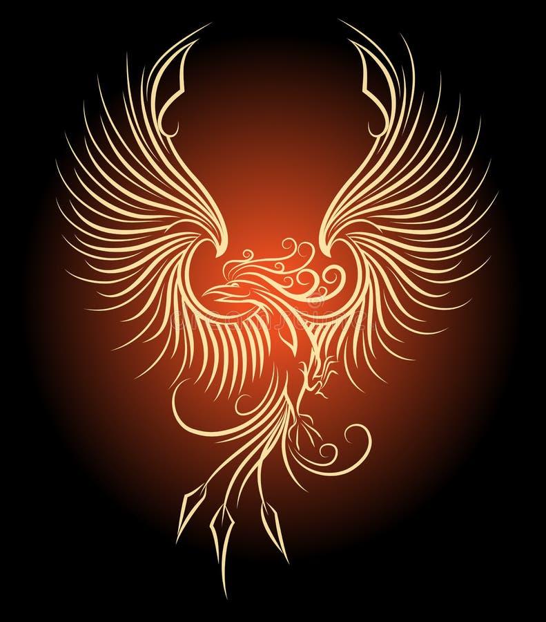 Phoenix fågel royaltyfri illustrationer