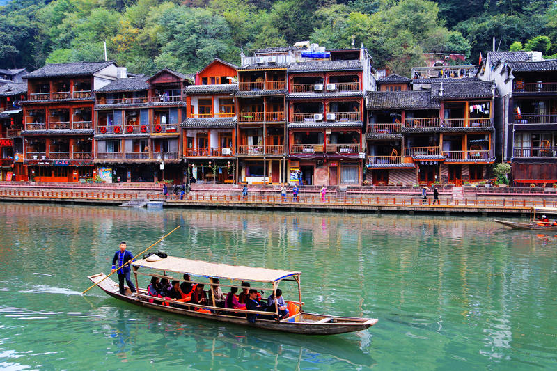 Phoenix , fenghuang ancient town in china stock images