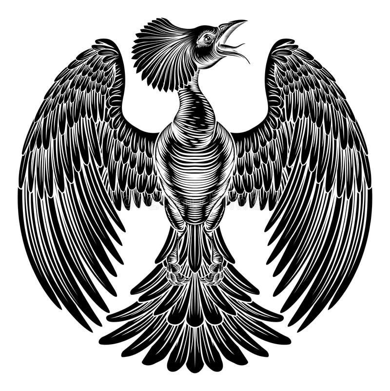 Phoenix fire bird design stock illustration