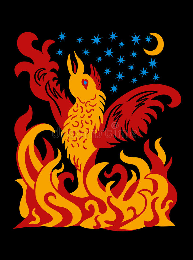 Phoenix the Firebird royalty free stock images