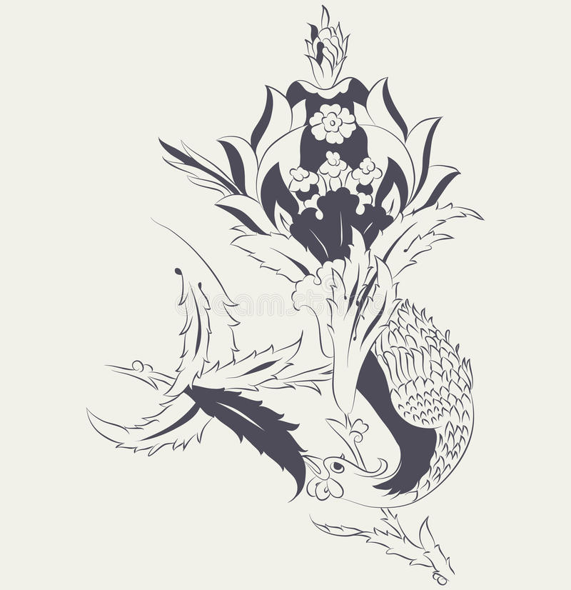 Phoenix-Fliesendesign vektor abbildung