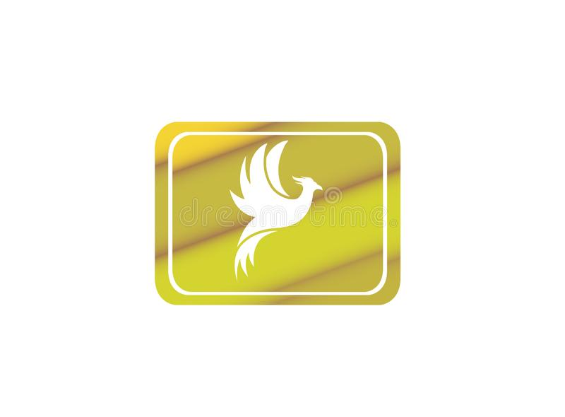 Phoenix flying bird and eagle open wings Logo Design illustration in the shape royalty free illustration