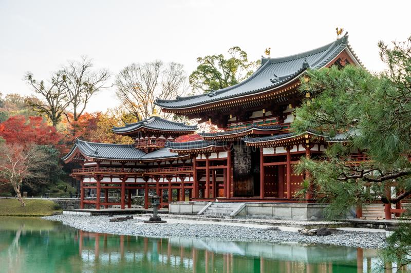 Phoenix Hall building at Byodo-In or Byodoin Temple . royalty free stock photo
