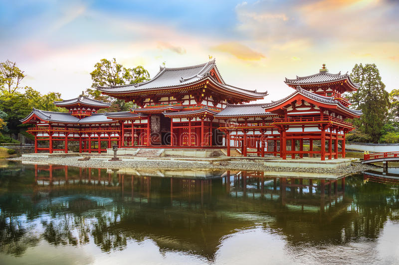 The Phoenix Hall of Byodo-in Temple in Kyoto stock photography