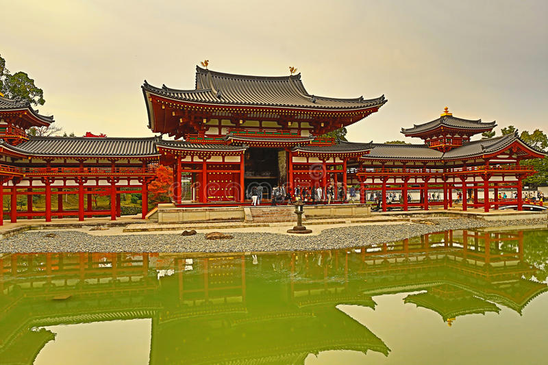 The Phoenix Hall of Byodo-in Temple in Kyoto, Japan royalty free stock image