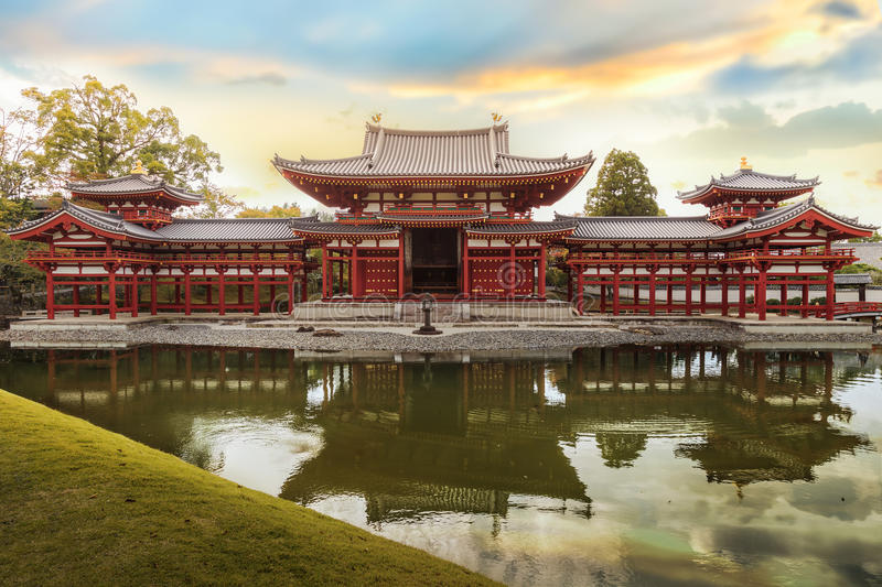 Phoenix hall at Byodoin Temple in Kyoto stock photo