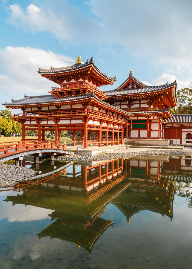 Phoenix hall at Byodoin Temple in Kyoto stock image