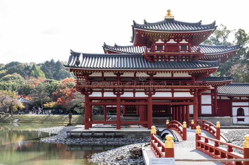 Phoenix Hall of Byodoin Temple royalty free stock photo