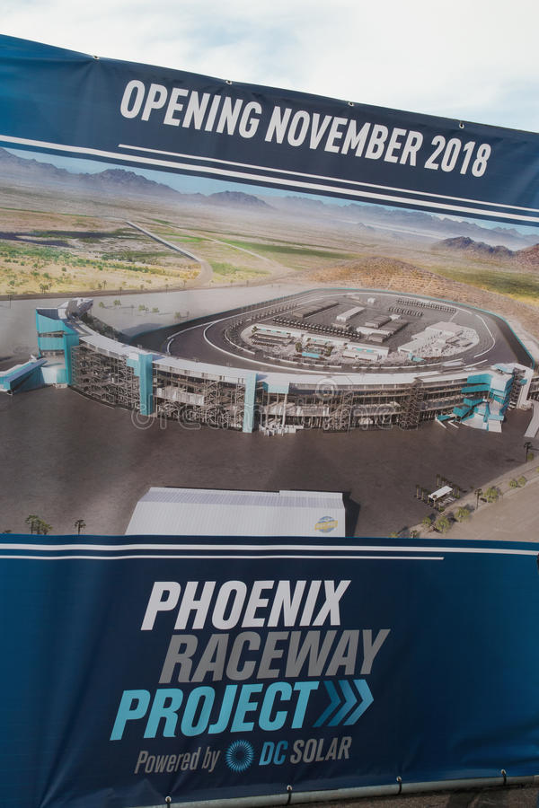 Phoenix International Raceway Ground Breaking. PHOENIX – With its recently announced $178 million dollar modernization project, the Phoenix Raceway stock photography