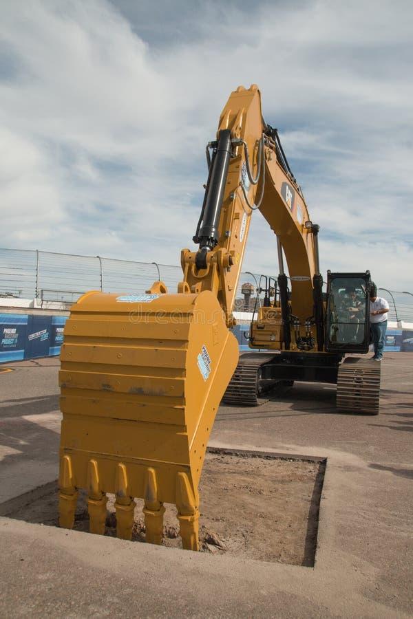 Phoenix International Raceway Ground Breaking. PHOENIX – With its recently announced $178 million dollar modernization project, the Phoenix Raceway royalty free stock photography