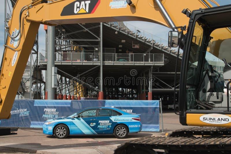 Phoenix International Raceway Ground Breaking. PHOENIX – With its recently announced $178 million dollar modernization project, the Phoenix Raceway royalty free stock images