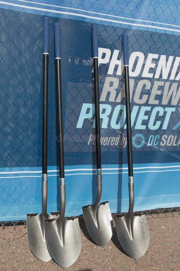 Phoenix International Raceway Ground Breaking. PHOENIX – With its recently announced $178 million dollar modernization project, the Phoenix Raceway stock photo