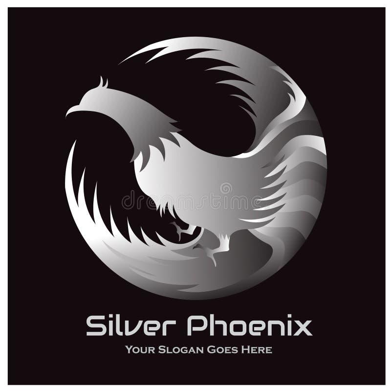 Phoenix Emblem In Circle Stock Vector . Illustration Of