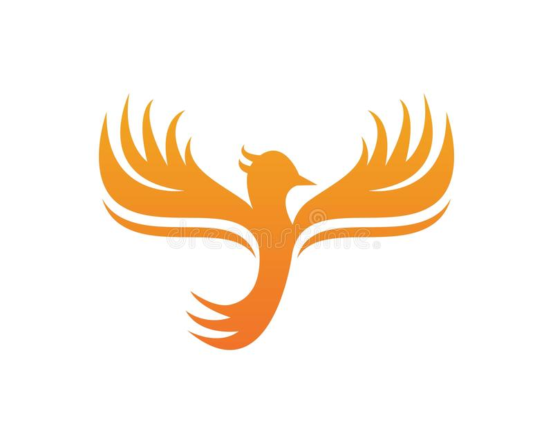 Phoenix logo design vector icon template royalty free illustration