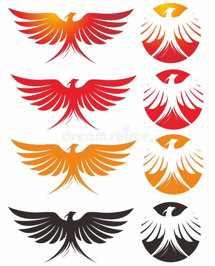 phoenix logo stock vector