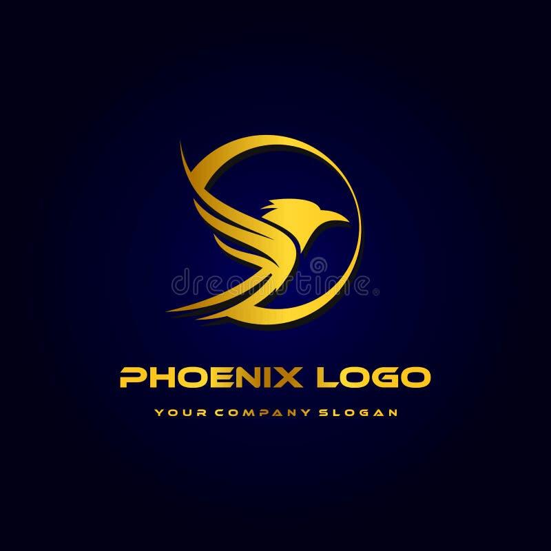 phoenix logomall, lyxig designvektor, symbol royaltyfri illustrationer
