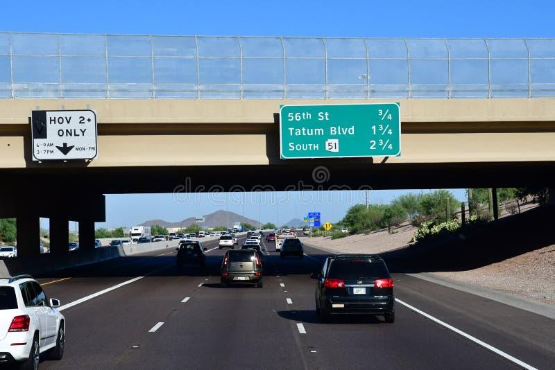Phoenix, los E.E.U.U. - 7 de julio de 2016: los 17 de un estado a otro fotos de archivo libres de regalías