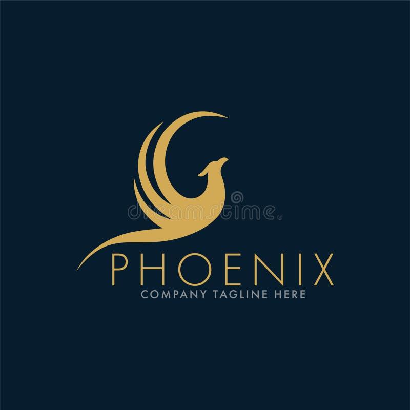Phoenix luxuoso Logo Design Template ilustração do vetor