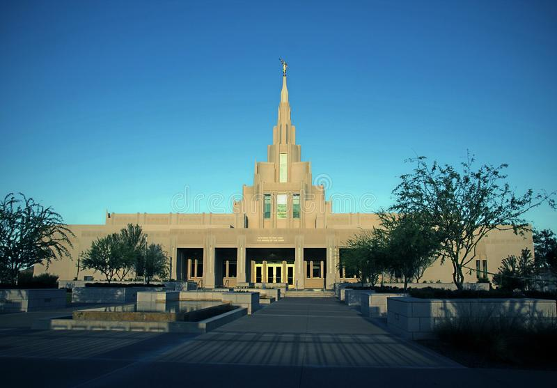 Phoenix, mórmon do templo de AZ LDS fotos de stock royalty free