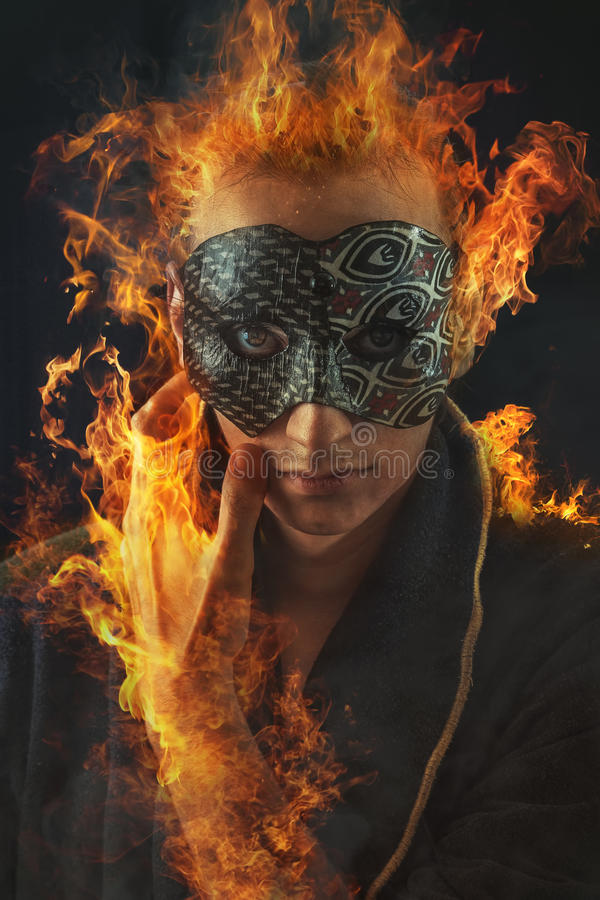 Phoenix-Mann lizenzfreies stockfoto