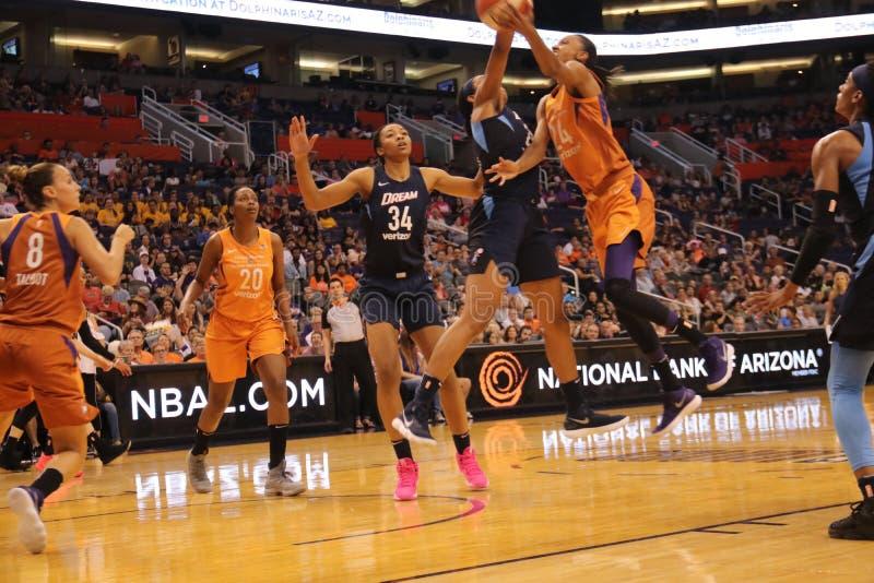 Phoenix Mercury contre le rêve d'Atlanta photo libre de droits