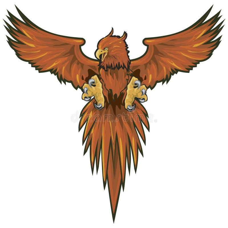 Phoenix met het knippen van weg royalty-vrije illustratie