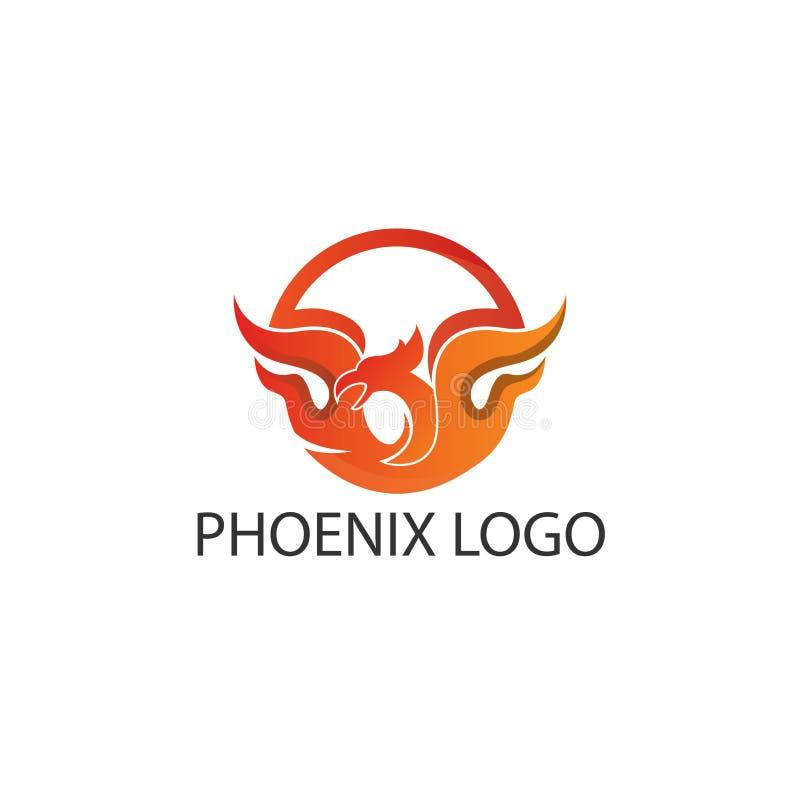 Phoenix okręgu loga pojęcie Ilustracja w wektorowym formacie ilustracji