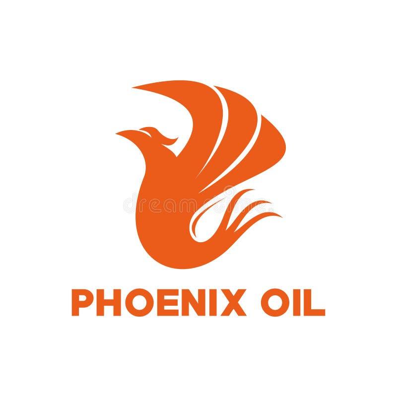 Phoenix oleju logo wektorowy projekt ilustracji