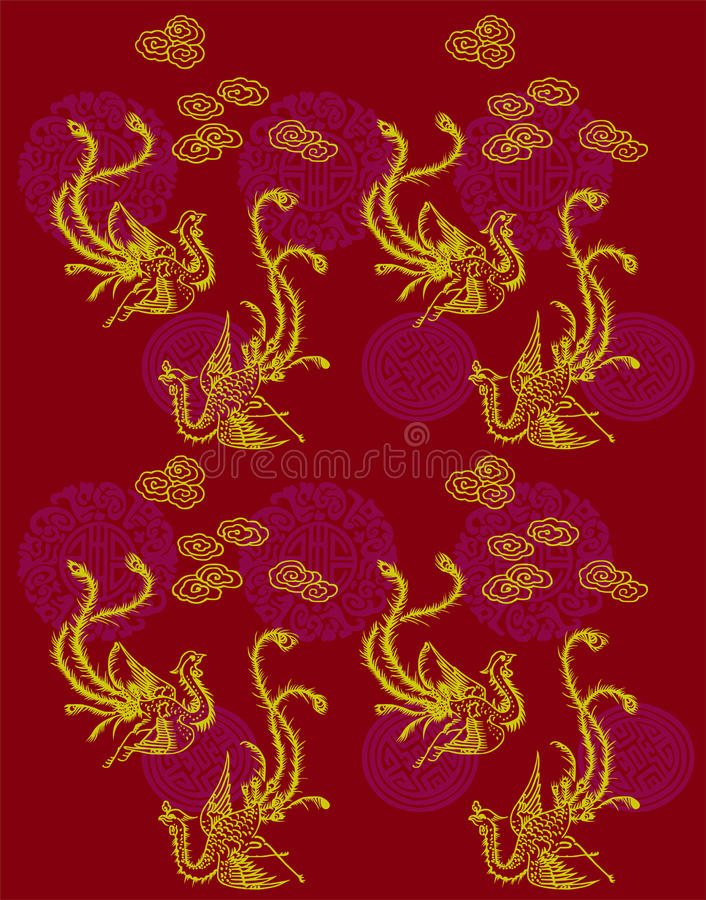 Download Phoenix Patterns stock vector. Image of leaves, fire, background - 9471197