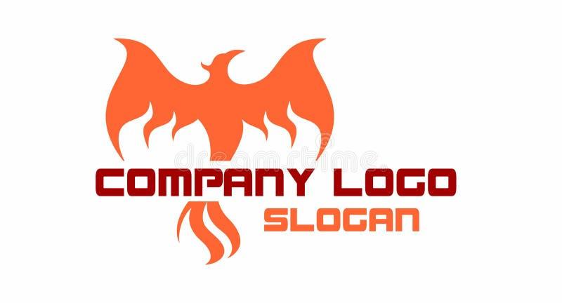Phoenix powstający logo royalty ilustracja