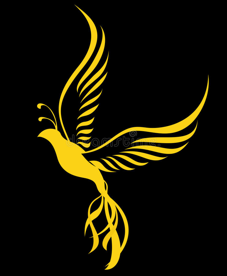 Phoenix ptak ilustracja wektor