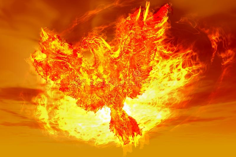 Phoenix rising stock illustration