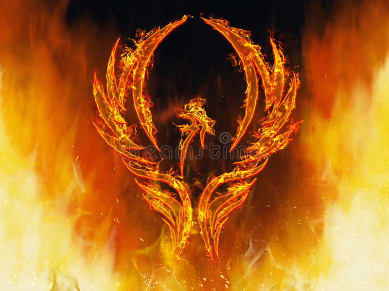 Phoenix rising stock photo