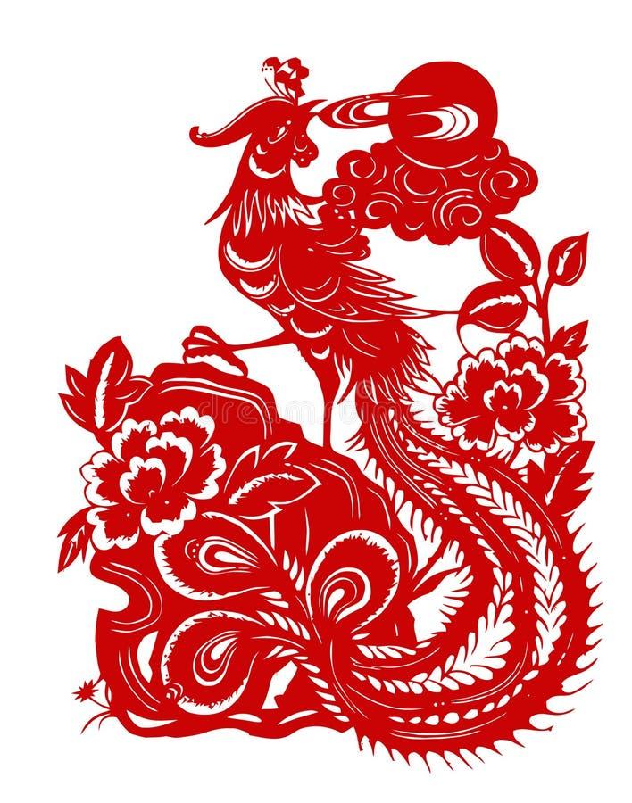 Phoenix rossa illustrazione di stock