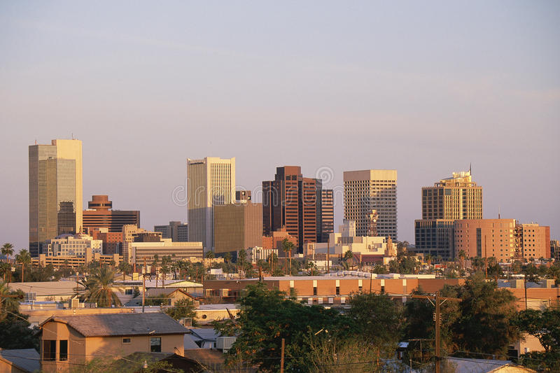 Phoenix skyline stock images