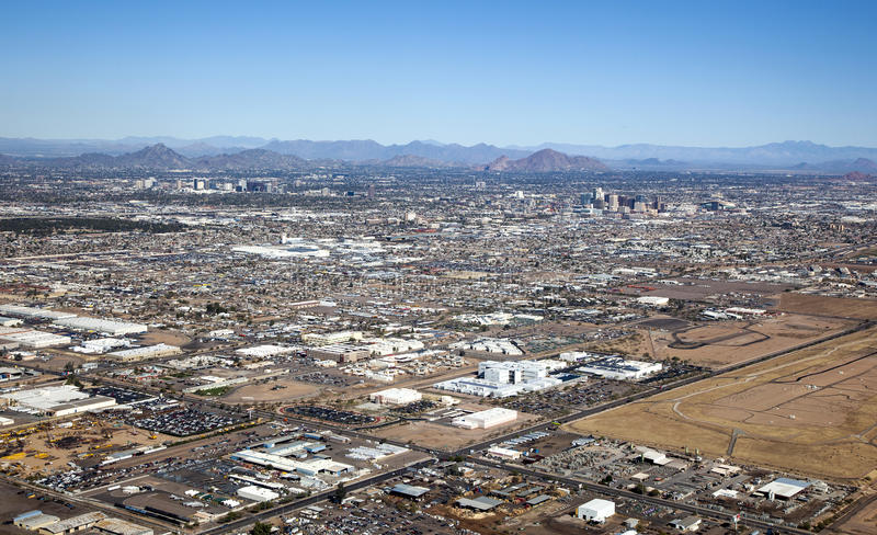 Phoenix Skyline. Clear Skies over Phoenix, Arizona and the Valley of the Sun royalty free stock image