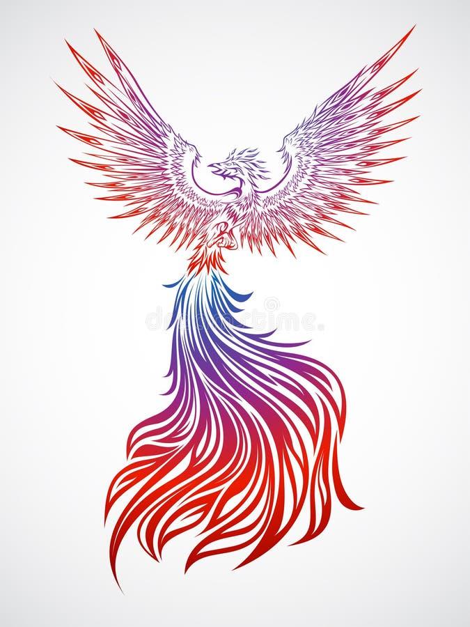phoenix soaring vektor illustrationer