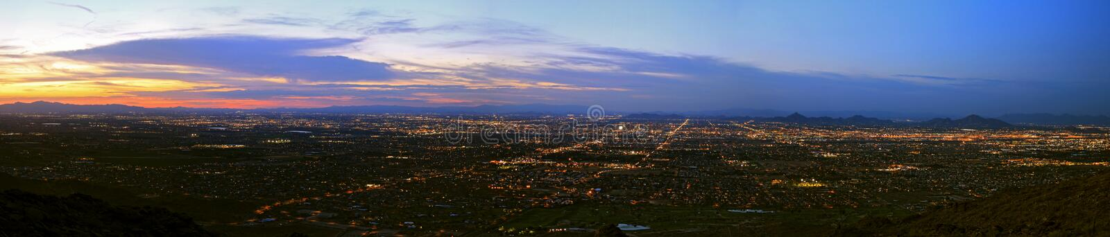Download Phoenix South Mountain Panorama Stock Photo - Image: 15654218
