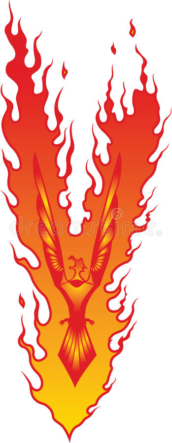 phoenix stylized arkivfoto