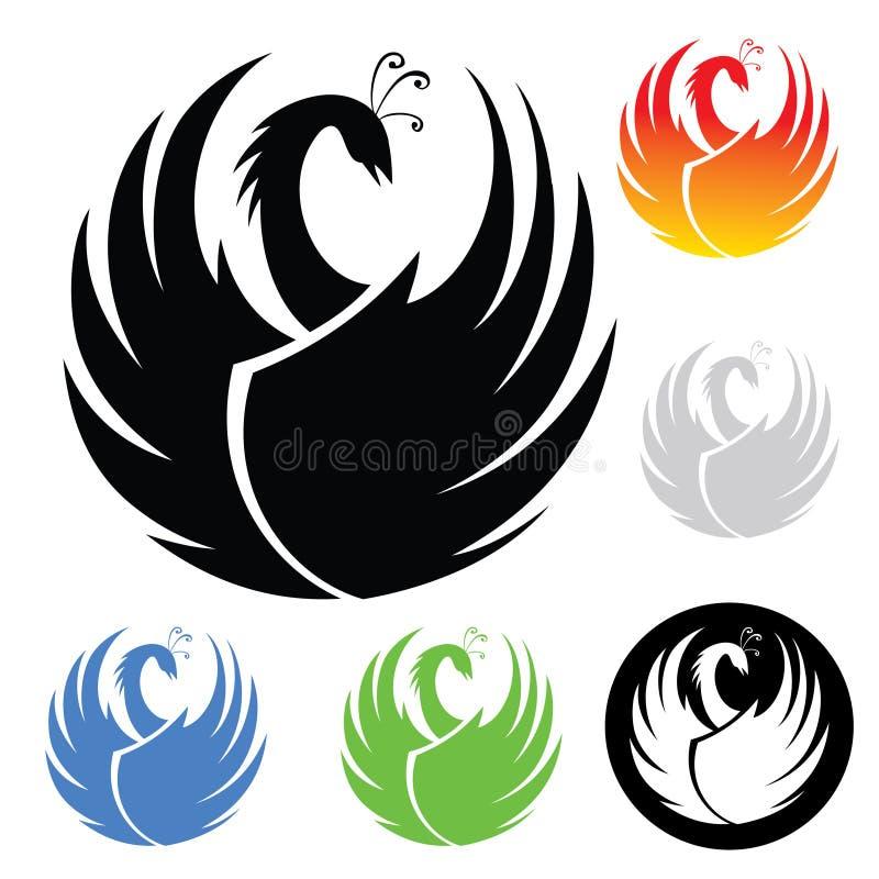 Phoenix symbol ilustracja wektor