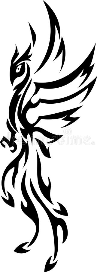 Phoenix-Tätowierung Stammes- lizenzfreie abbildung