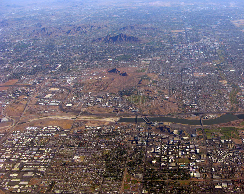 Download Phoenix and Tempe, AZ stock photo. Image of urban, houses - 6980596