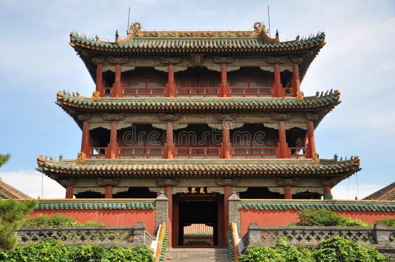 Phoenix torn, Shenyang imperialistisk slott, Kina royaltyfri foto
