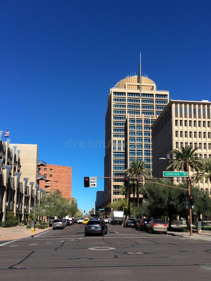 Phoenix urzędu miasta wierza zdjęcie stock