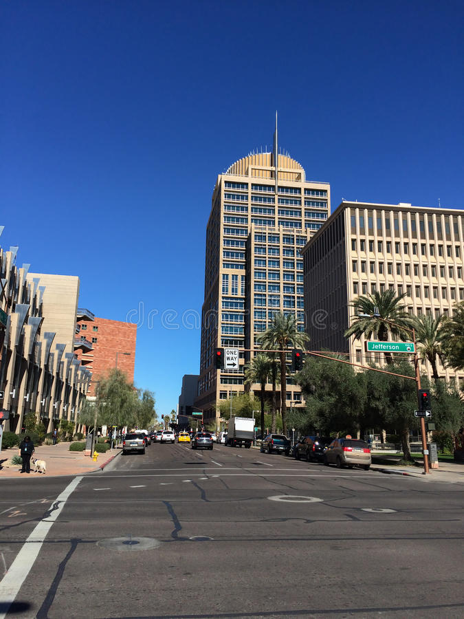 Phoenix urzędu miasta wierza obrazy royalty free