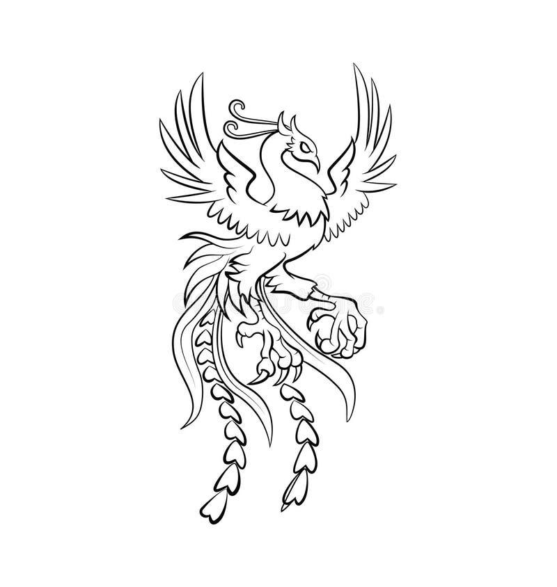 Phoenix wojownika wektoru ilustracja ilustracja wektor