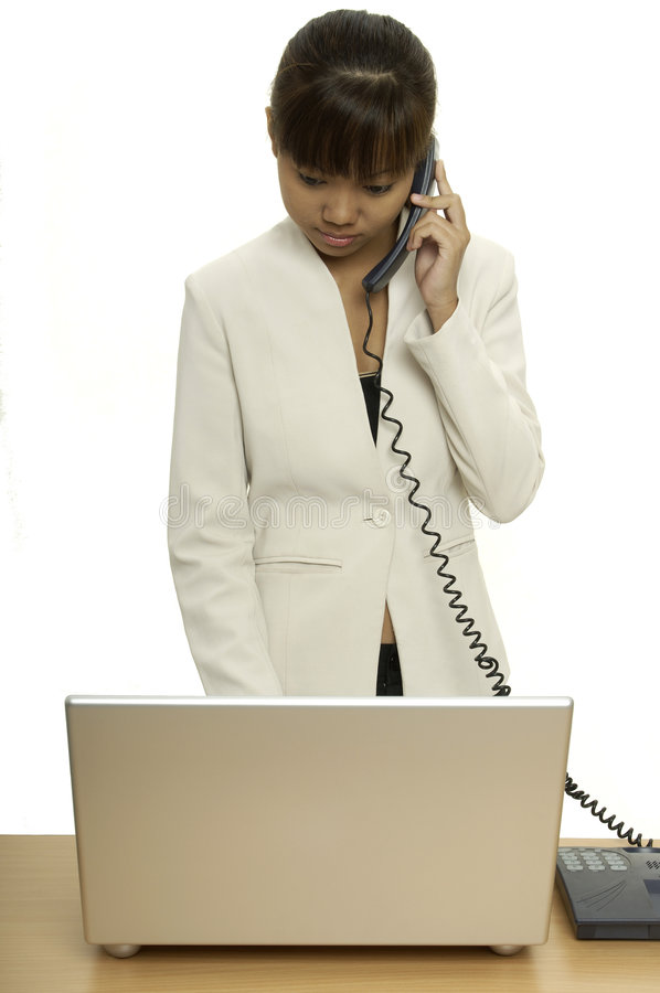 Download On The Phone 1 stock photo. Image of speak, girl, isolated - 115936